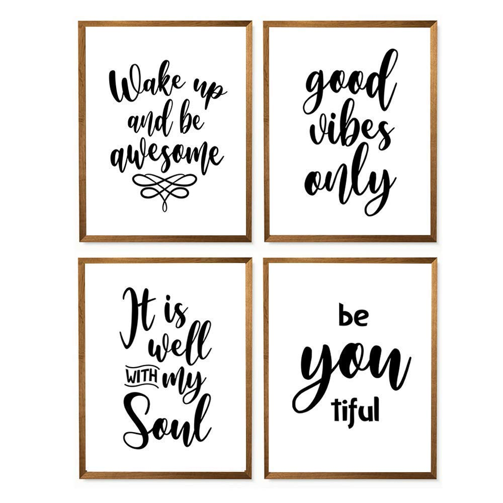 Wake Up And Be Awesome Set Of 4 Print - 8