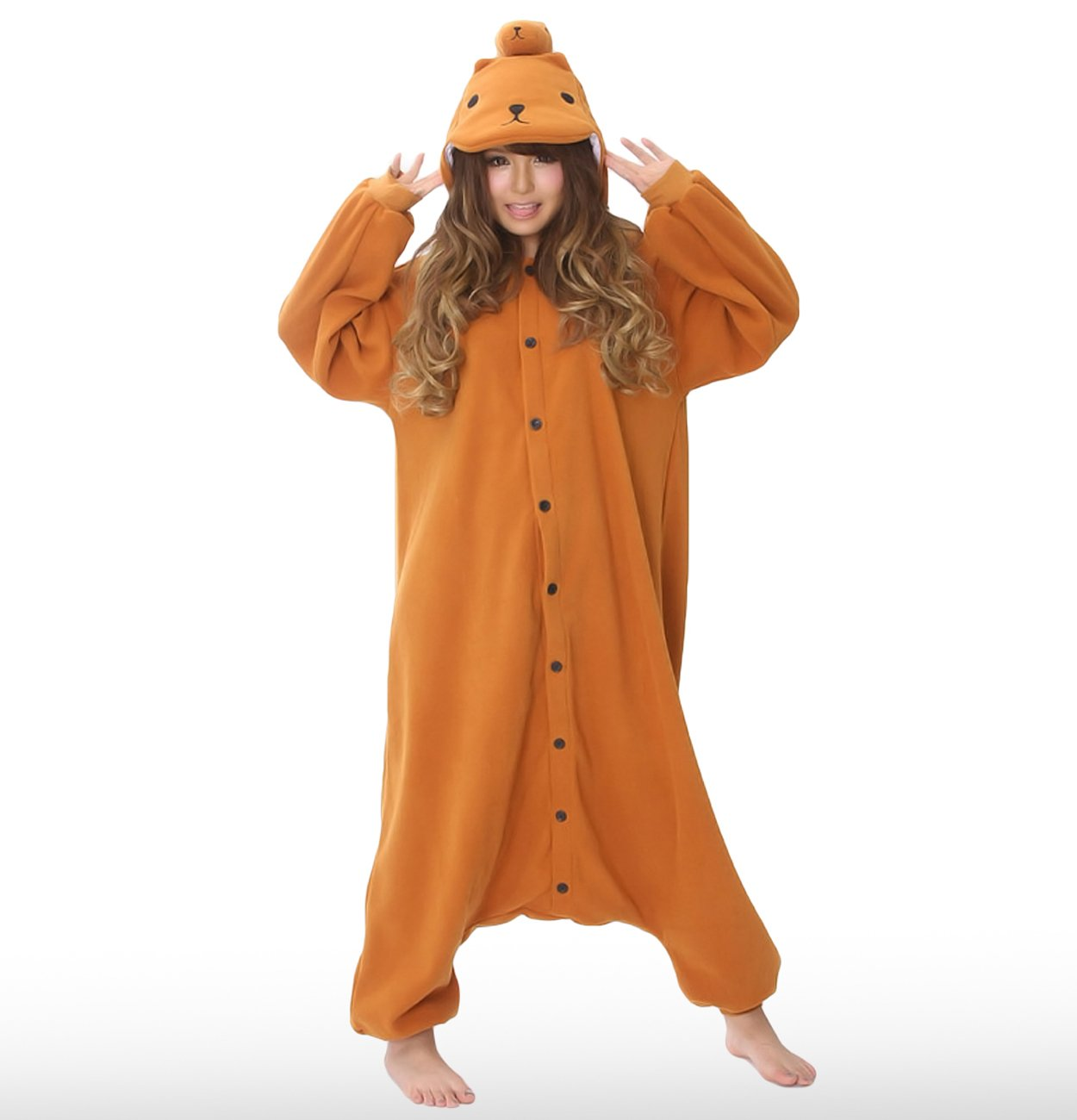 The Official Sazac Original Kigurumi Kapibara San Costume Kigurumi    Capybara Fancy Dress Cosplay Pajamas (japan import)  Amazon.ca  Toys   Games 453f50e069134