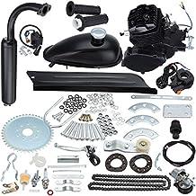 "Iglobalbuy 50cc/ 80ccBicycle Engine Kit 2-Stroke Cycle Petrol Gas Motor Engine Kit for Motorized Bicycle 26""/28"" Bike (black) (50cc)"