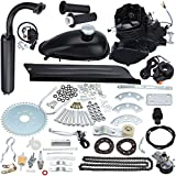 "Ambienceo 26"" 28"" Black 2 Stroke 50cc 80cc Cycle Bicycle Gas Motorized Gasoline Engine Motor Kit CDI Air Cooling For Mountain and Road Bike (50cc, Black)"