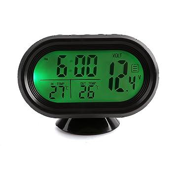 Termometro del coche - SODIAL(R) Multi-funcion digital de alta calidad de