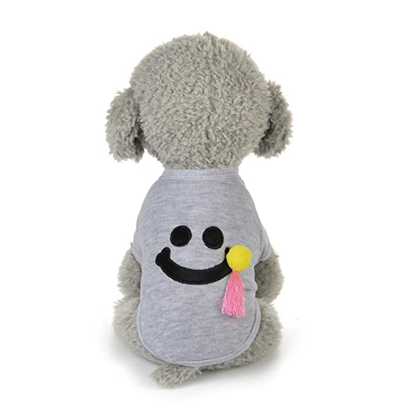 Tongshi Nuevo invierno caliente perro mascotas ropa linda sonrisa ...