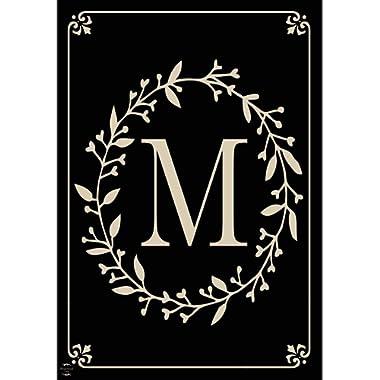 Briarwood Lane Classic Monogram Letter M Garden Flag Everyday 12.5  x 18
