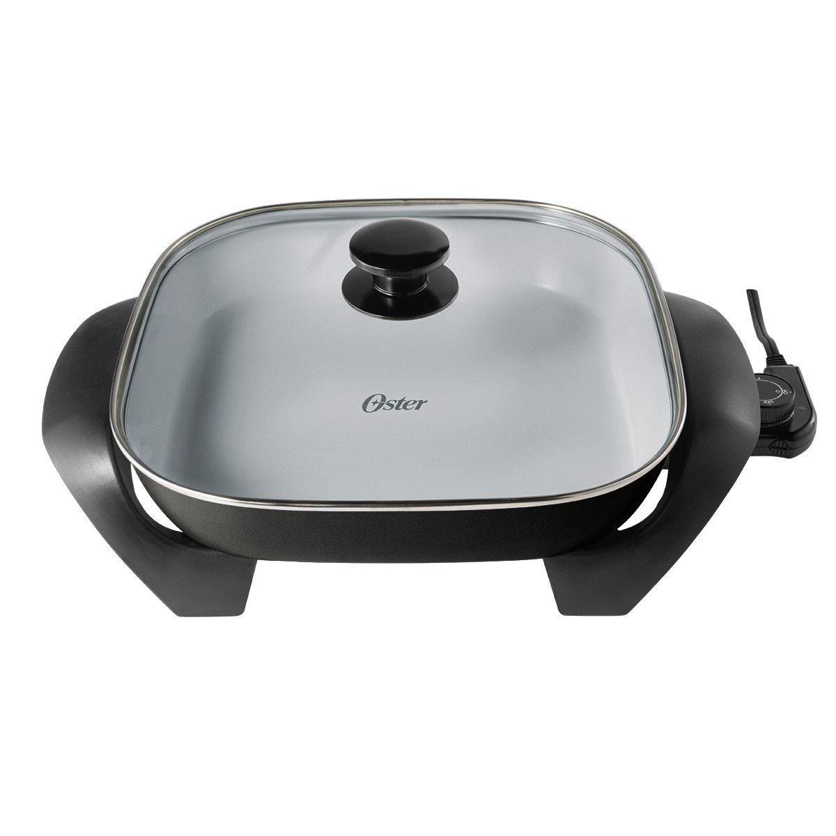Uncategorized Non Stick Kitchen Appliances electric skillet frying pan ceramic tempered glass lid non stick kitchen cooking