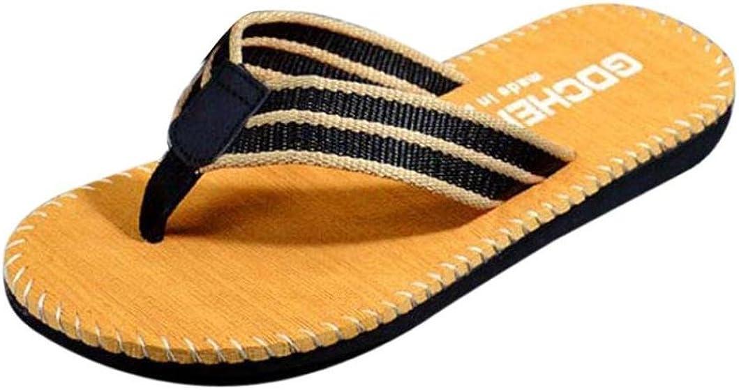 RAINED Mens Rubber Sandal Slipper Comfortable Shower Beach Shoe Slip on Flip Flop
