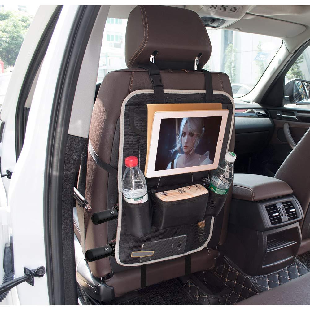 Storage Bottles Car Backseat Organizer Car Seat Organizer PU Leather Waterproof Car Seat Back Protectors Car Backseat Organizer Car Seat Back Organizer for Kids with Ipad Holder for Kids Toys