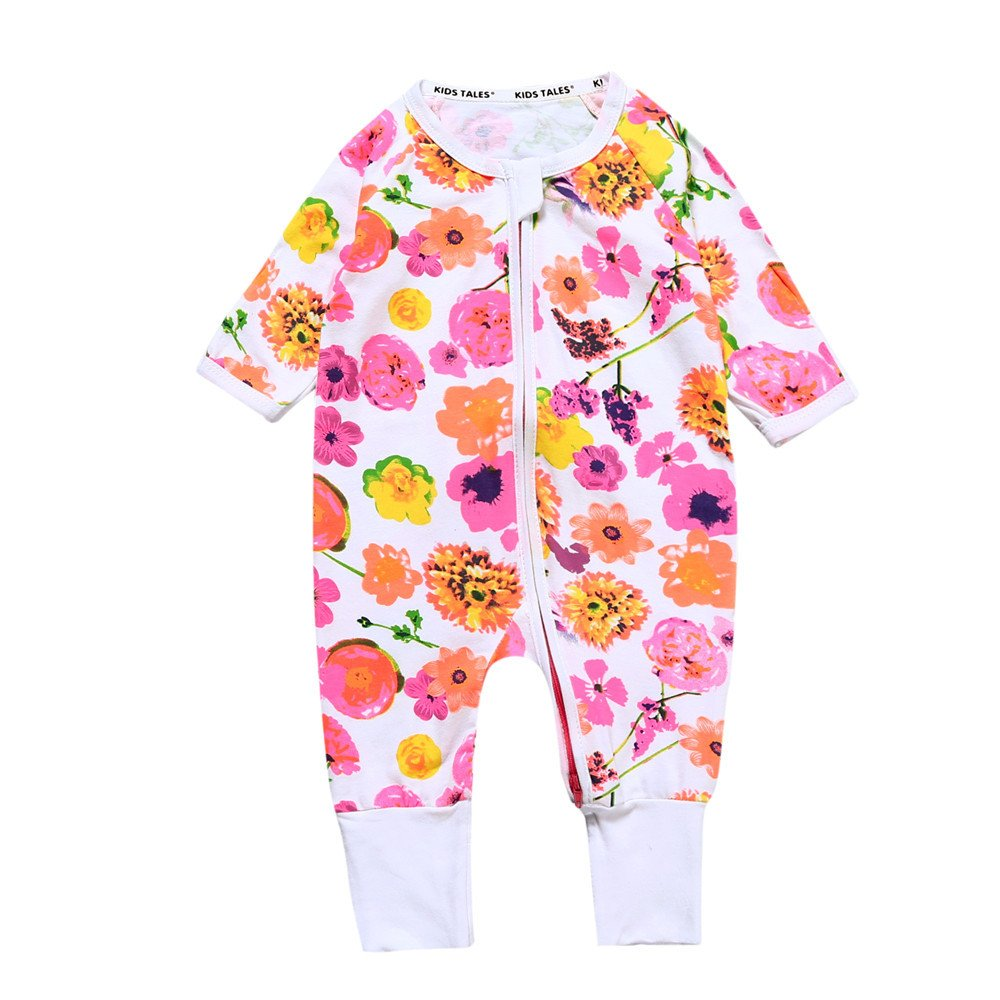 Kids Tales Baby Flower Footed Handed Zipper Pajama Sleeper Cotton Romper Fuzhou Shang Ku Trade Co. Ltd.