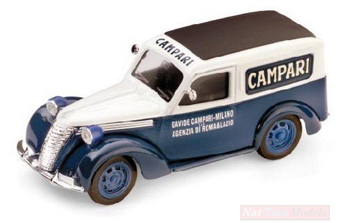 Brumm BM0245 FIAT 1100 E FURGONE Campari 1952 1:43 MODELLINO Die Cast Model Compatible con