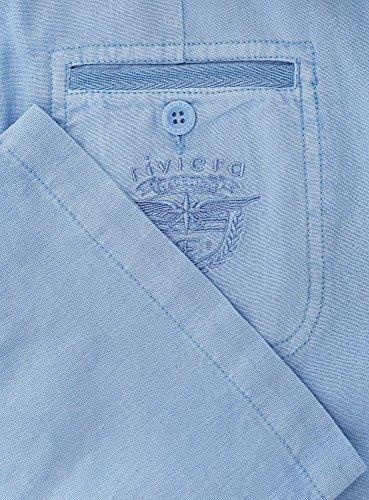 oodji Collection Mujer Pantalones de Lino de Corte Libre Azul (7500N)