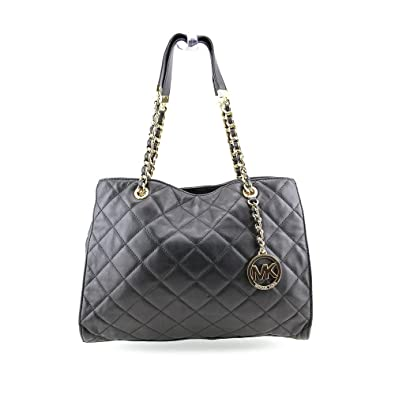 07c94fb83bce Michael Kors Susannah Large Tote Black: Handbags: Amazon.com