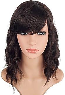 Amazon.com : MelodySusie Short Blonde Loose Wavy Curly Wig ...
