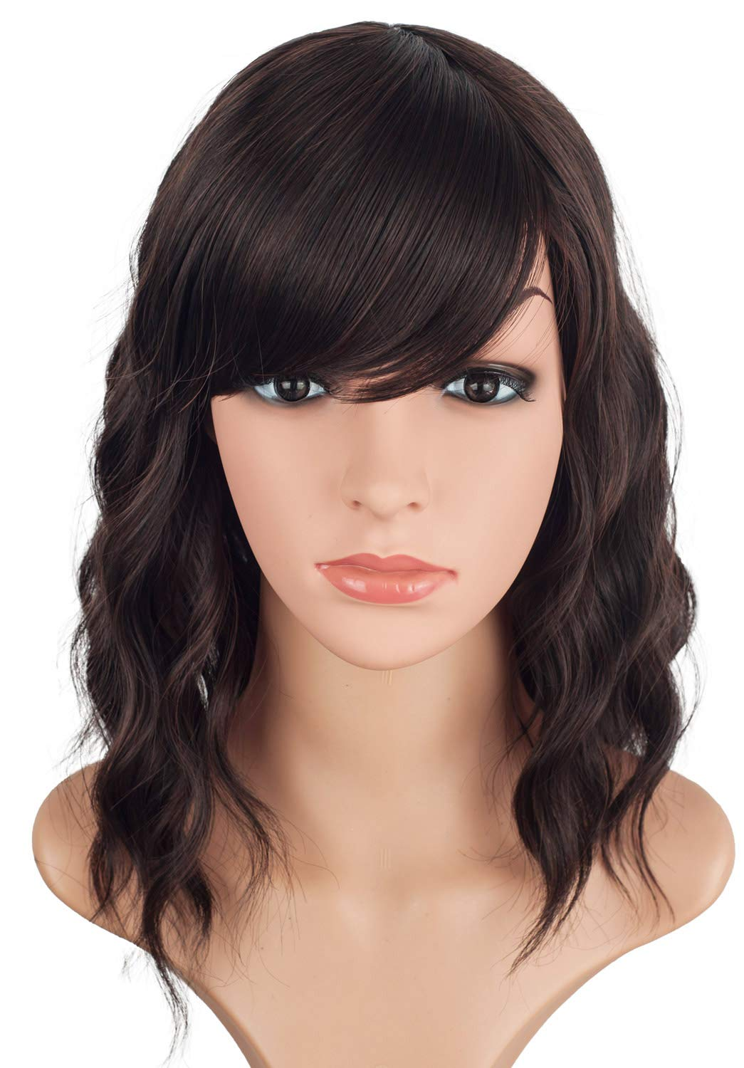 14inch Short Wavy Wigs For Black Women Black