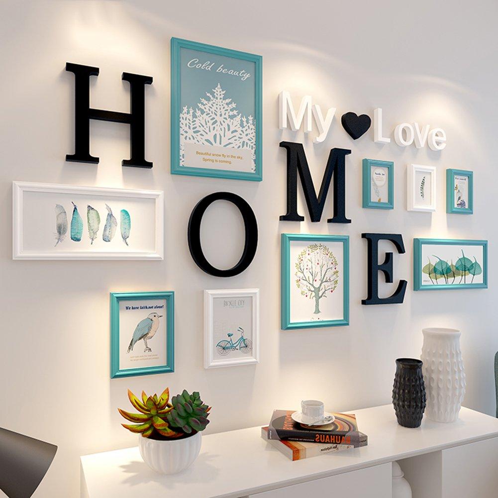 9 set picture frames collage photo frames wall mounting photo frames eco friendly family photo framea amazon co uk kitchen home