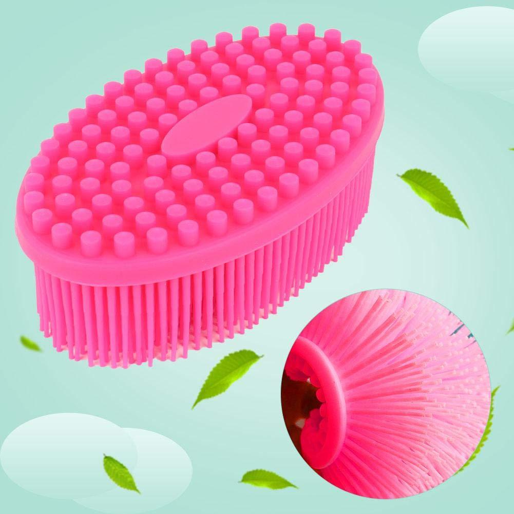 Alomejor Brosse de Bain B/éb/é en Silicone Brosse Sensorielle pour B/éb/é Brosse de Massage Douche pour B/éb/é Body Hair Washer
