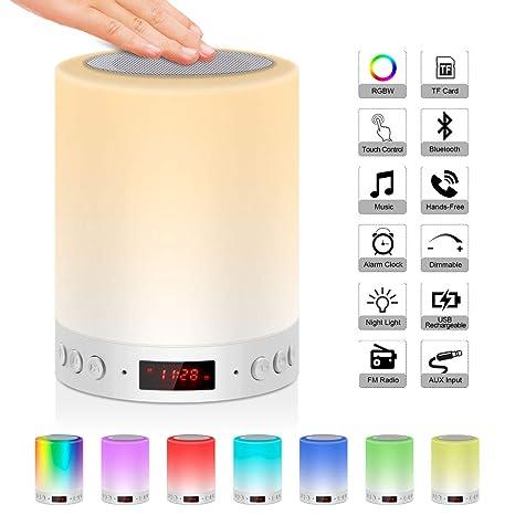d813fee6c88 5 en 1 lámpara altavoz Bluetooth gancho portátil 6 W jolvvn lámpara de noche  FM Radio