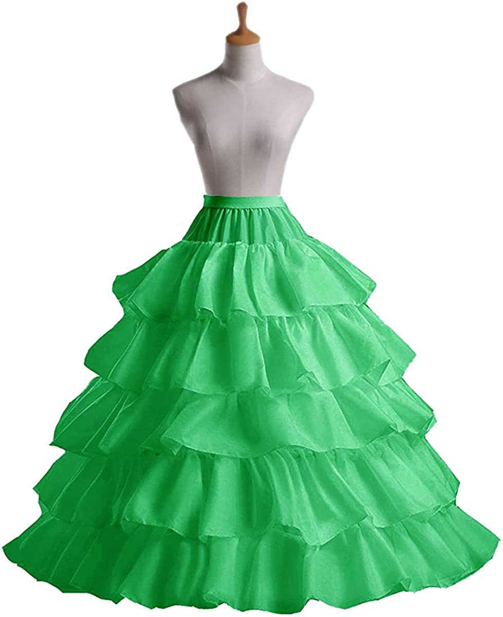 FuliMall Jupon Crinoline Mariage Petticoat Rockabilly de Femme Long Vintage Ann/ée 50 pour Robe de Mari/ée Soir/ée 4 Cerveaux 5 Couches