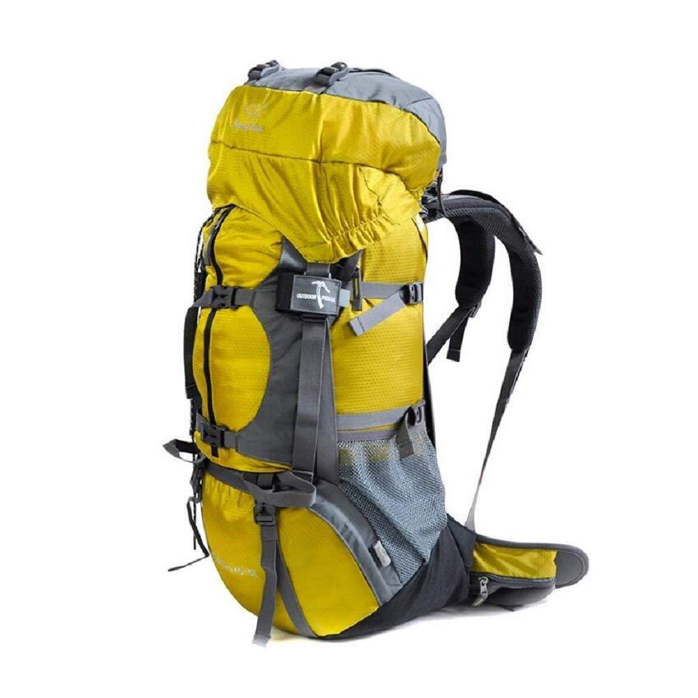 BEIBAO BEIBAO BEIBAO Outdoor-Rucksack 50L große Kapazität, Outdoor-Wandern, Bergsteigen, Reiten Rucksack, mit Regenschutz, solide und langlebig, männlich und weiblich General Rucksack,50L,Gelb B07GPK78MW Wanderruckscke Ausgezeichnet 14638a