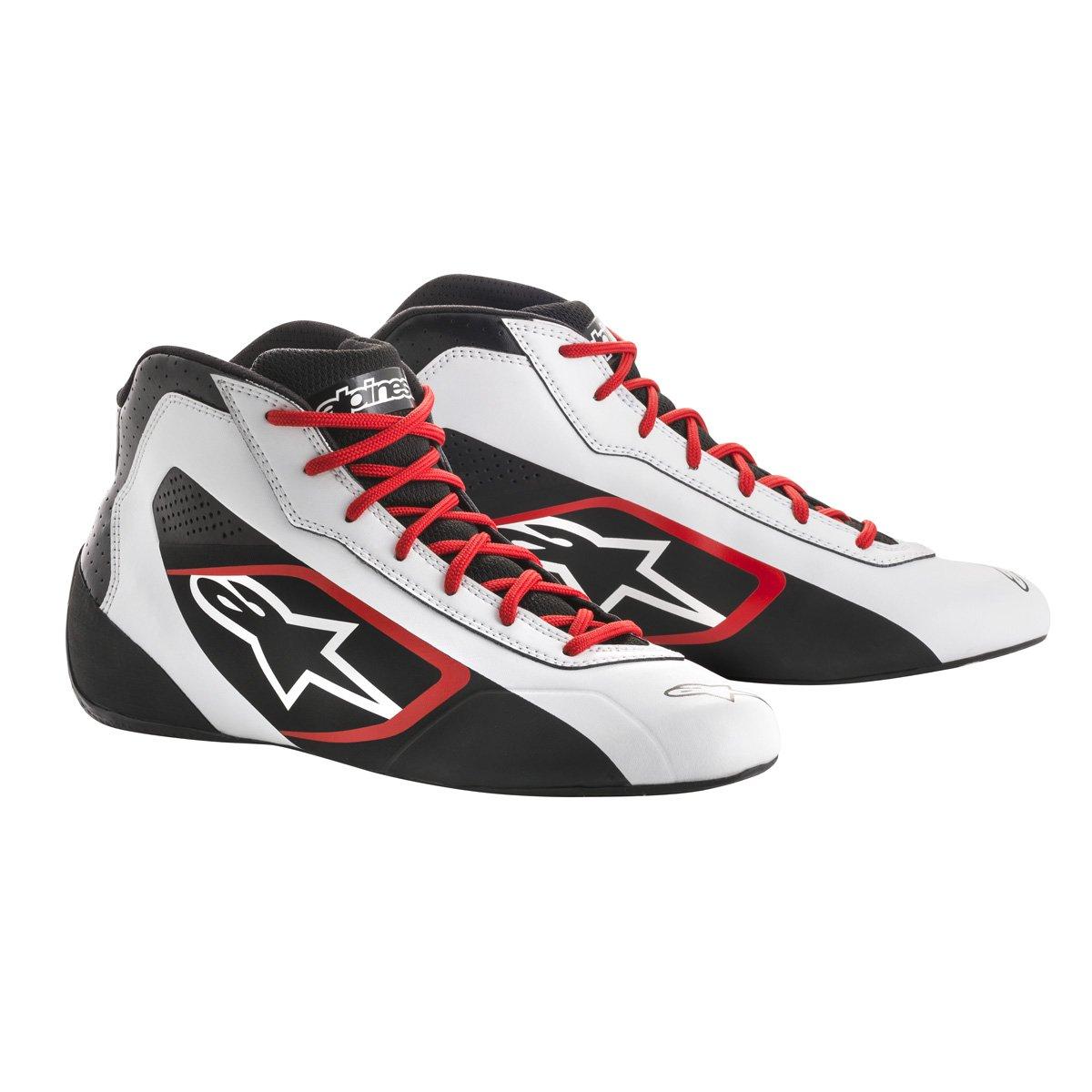 Alpinestars 2711518-213-8 Tech 1-K Start Shoes, Black/White/Red, Size 8