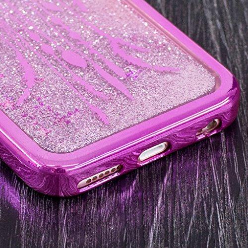 Trumpshop Smartphone Carcasa Funda Protección para Apple iPhone 5 / iPhone 5s / iPhone SE + Atrapasueños + Fina de TPU Transparent Liquido Dinámica Sparkle Estrellas Quicksand Caja Protectora Atrapasueños