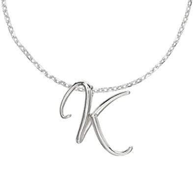 Dower hall luscious letter sterling silver initial k pendant on 18 dower hall luscious letter sterling silver initial k pendant on 18 inch belcher chain aloadofball Gallery