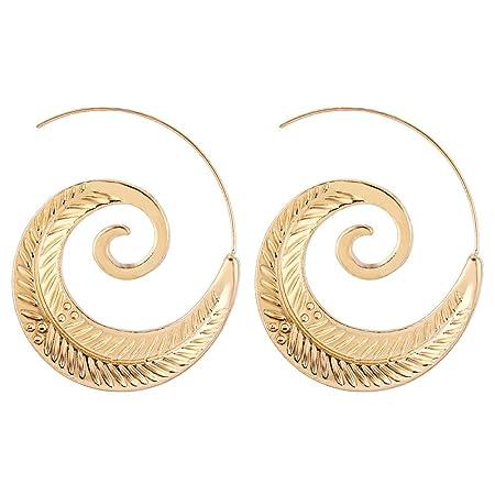 Qinlee Ohrh/änger Spiral Stil Ohrschmuck Quaste Ohrstecker Mode Geschenk Ohrringe Elegant Ohr Accessoires Damen M/ädchen f/ür Hochzeiten Party Schmuck Zubeh/ör Size 4.5 * 4.5CM Gold Bankette
