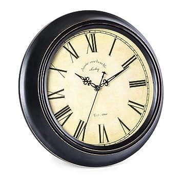 @Reloj de Pared Relojes de pared Funciona con pilas Sin tictac Decorativo Sala de estar