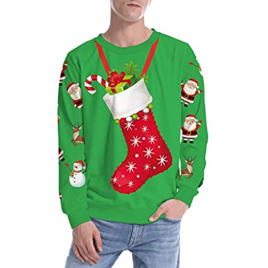ce684e161370 Magiyard Hommes Pull de Noel Homme Rouge Veste Hommes Sweat Shirt Homme Pull  Drole ou Noel  Amazon.fr  Vêtements et accessoires