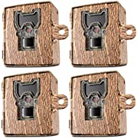 Bushnell 119754C Trail Cam Accessories Aggressor Security Box, Tree Bark Camo, 4-Pack