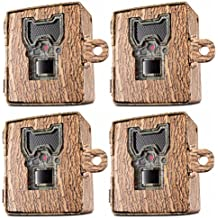 Bushnell 119754C Trail Cam Accessories Aggressor Security Box, Tree Bark Camo, 4-Pack
