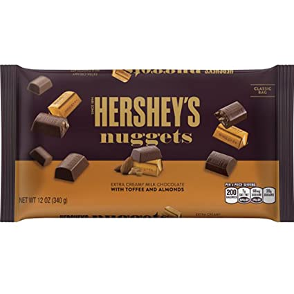 hersheys Nuggets extra leche cremoso Chocolate con Toffee y ...