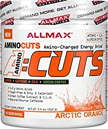 ALLMAX A:CUTS – Amino Charged Energy Booster Dietary Supplement, Artic Orange, 210g, 30 Servings