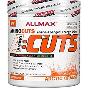 ALLMAX Nutrition A:CUTS, Amino Charged Energy Drink, Arctic Orange, 210g