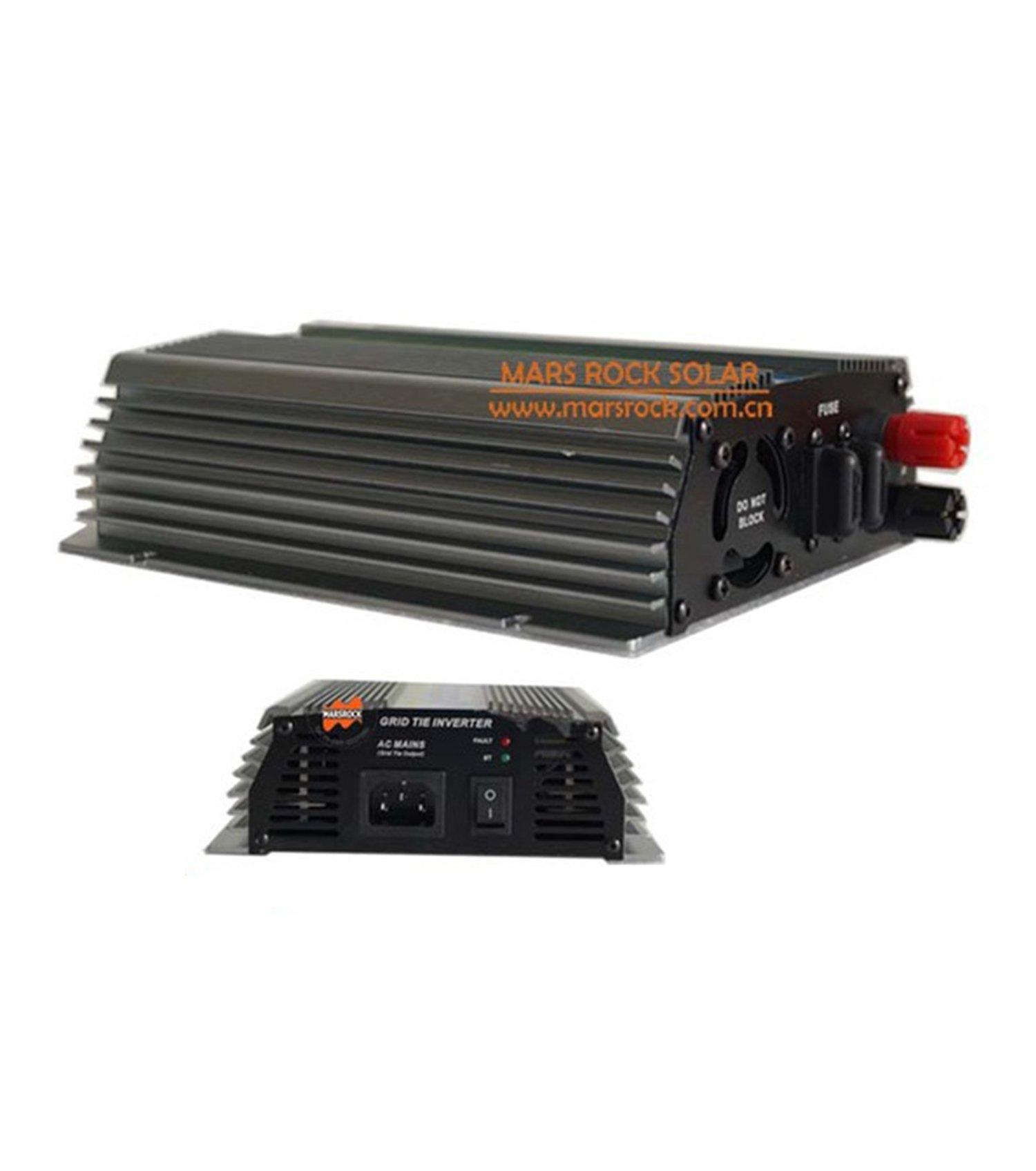 MarsRock Power 600W Grid Tie Micro Inverter, 10.5-28V DC to AC 110/220V Pure Sine Wave Inverter Suitable for 18V PV module or Wind Turbine (AC110Volt 60Hz Silver)
