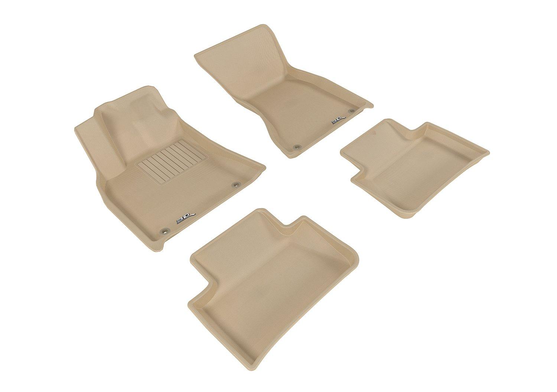 L1PO01401502 Tan Kagu Rubber 3D MAXpider Custom Fit Complete Floor Mat Set for Select Porsche Macan Models