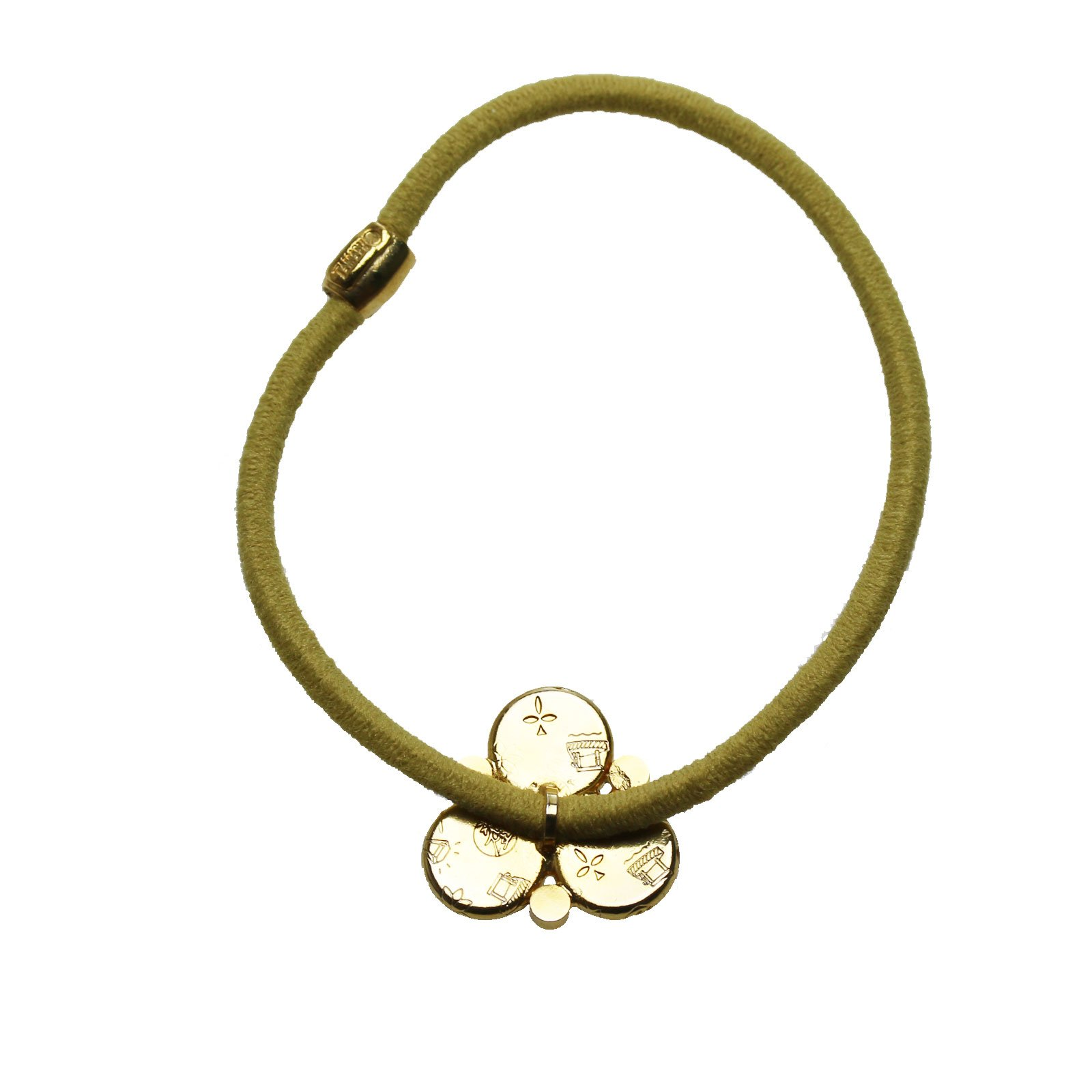 Tamarusan Ponytail Holder Small Size Pansy Yellow Green Unisex High-Grade by TAMARUSAN (Image #3)