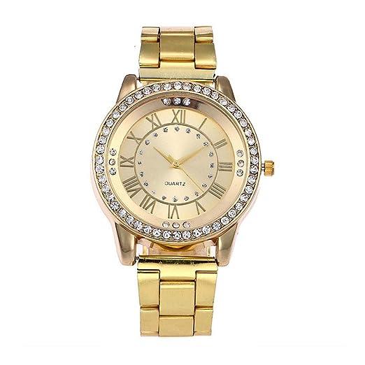 BBestseller Reloj para Mujer,Moda Metal del Diamante Lujo Venda Cuarzo Analógico Reloj Pulsera Impermeable