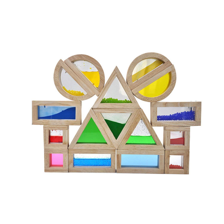 YXXHM- Bloques de arcoíris, educación en la Primera Infancia, Aprendizaje Creativo, Puzzle Juguetes de Madera