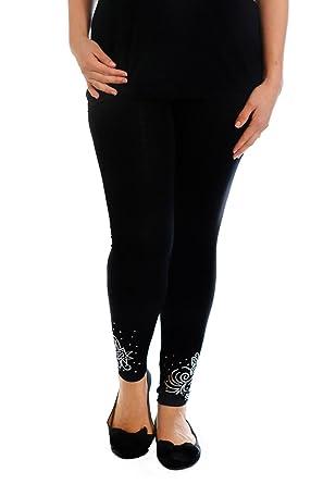 d4ffb193559 Nouvelle Collection New Womens Leggings Plus Size Ladies Foil Glitter  Trouser Butterfly Elastic  Amazon.co.uk  Clothing