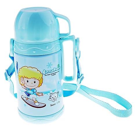 homyl Niños Botella Acero Inoxidable Botella de agua - 500 ...