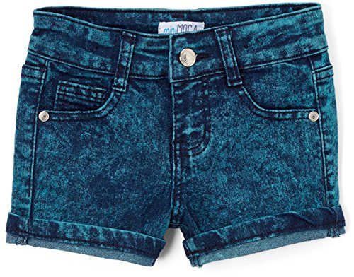 ToBeInStyle Girl's Dark Washed Denim Mini Shorts - 12