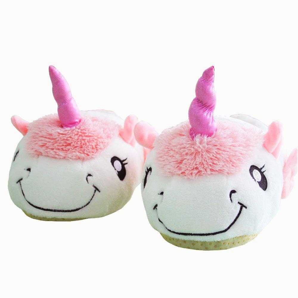 LemonGo Plush Unicorn Slippers Warm Soft Bottom Anti Slip Sheep Slippers for Women Girls Slippers