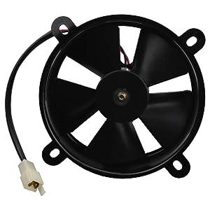 GOOFIT 12V DC Radiator Cooling Fan for 200cc 250cc Taotao Sunl Coolster Roketa Water-Cooled ATV Quad Go-Kart
