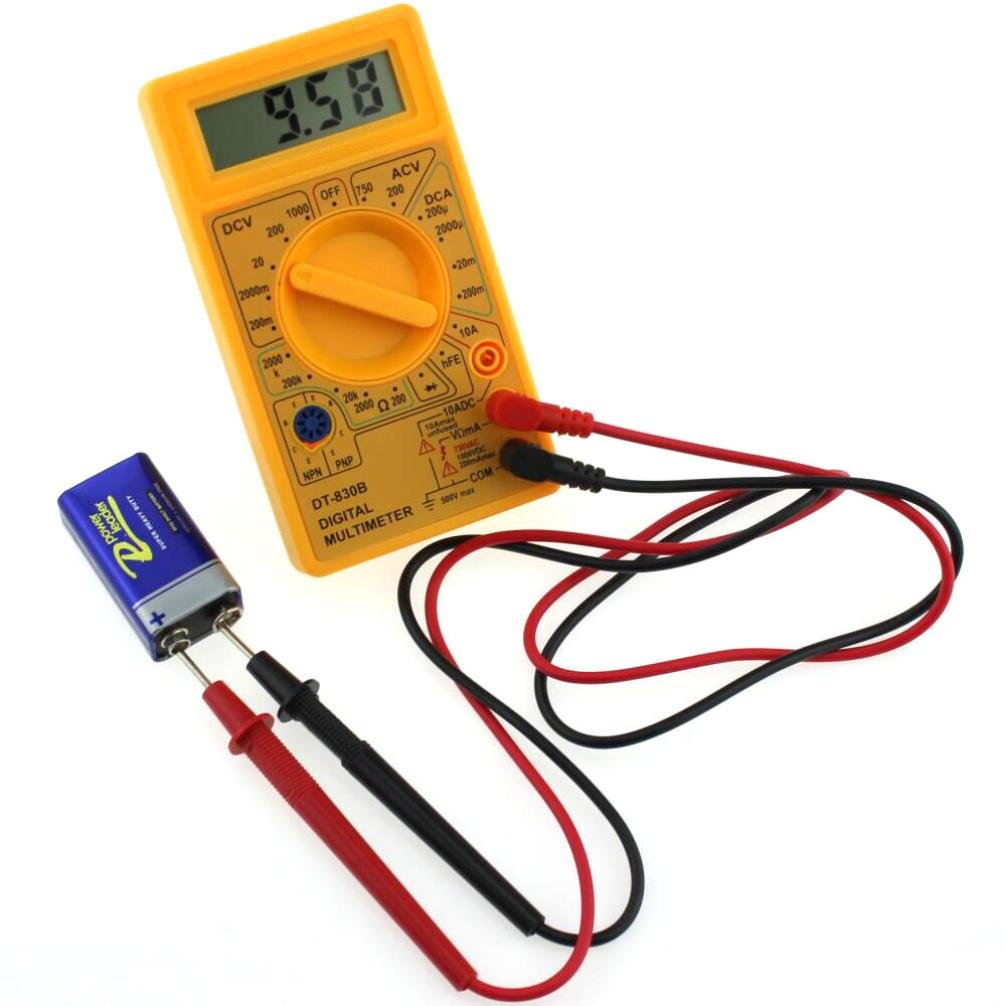 Gotd Yellow Dt830b Lcd Digital Multimeter Voltmeter Ammeter Ac Dc Ohm Circuit Checker Voltage Tester Toys Games
