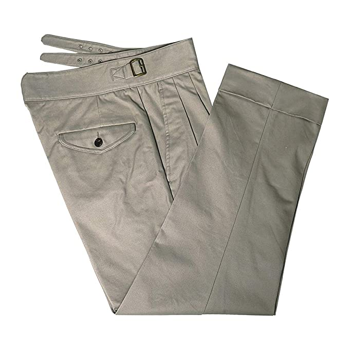 VTGDR Ankle Length Khaki Gurkha Pants Men Vintage Chino Military Style  Trousers  Amazon.ca  Clothing   Accessories 74e9e4ed40a