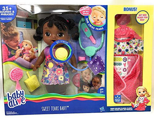 Search : Baby Alive Sweet Tears Baby African American Exclusive With Extra Bonuses