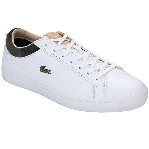 Lacoste - Zapatillas de Piel para hombre blanco blanco: Lacoste: Amazon.es: Zapatos y complementos