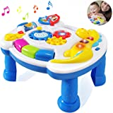 HOMOF Baby Toys Musical Learning Table 6 Months up-Early Education Music Activity Center Game Table Toddlers,Infant,Kids Toys for 1 2 3 Years Old Boys & Girls- Lighting & Sound Gifts