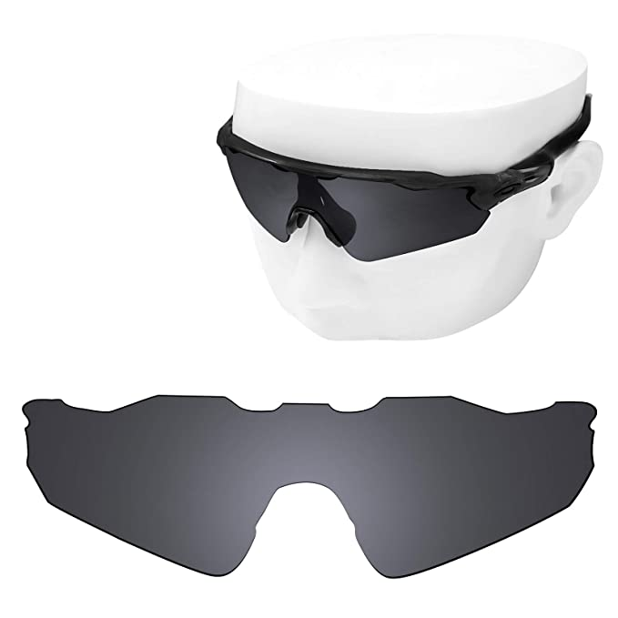 047ec7db2ad Image Unavailable. Image not available for. Color  OOWLIT Replacement Lenses  Compatible with Oakley Radar EV Path Sunglass Black Non-polarized