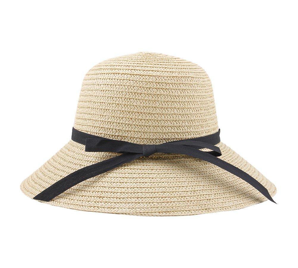 Mujeres Sombrero de sol Verano Sombrero de playa Sombrero de paja Sombrero Panama Para vacaciones On...