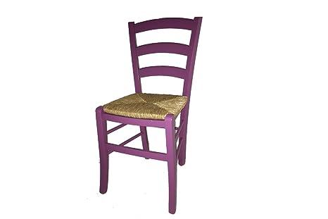 Sedie In Legno Colorate : Sedia paesana seduta paglia laccata colorata sedie in legno faggio
